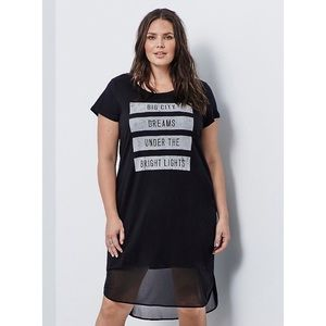Torrid / NWT Graphic Mesh T-Shirt Dress